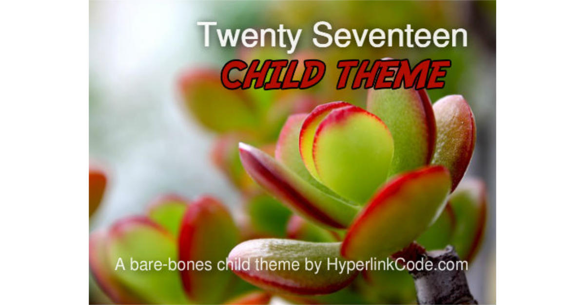 Twenty Seventeen Child Theme OG Image