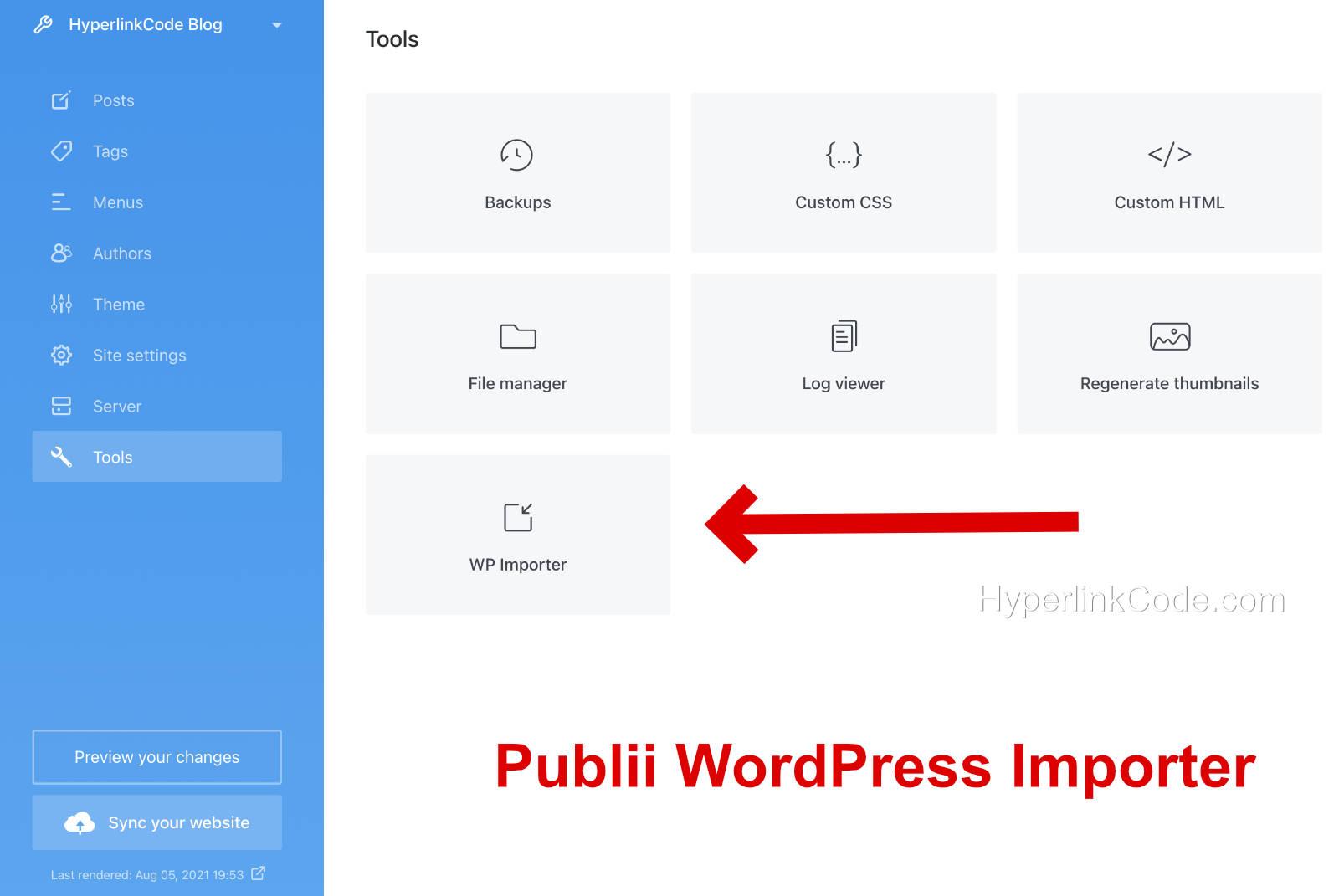 Publii WordPress Importer Tool