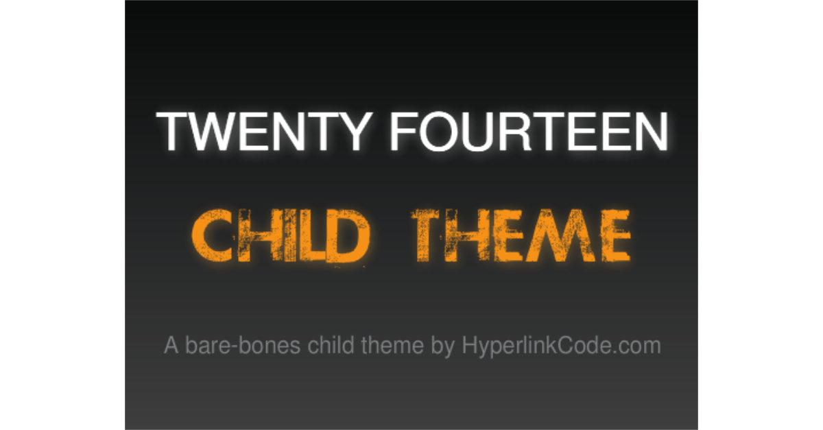 Twenty Fourteen Child Theme OG Image