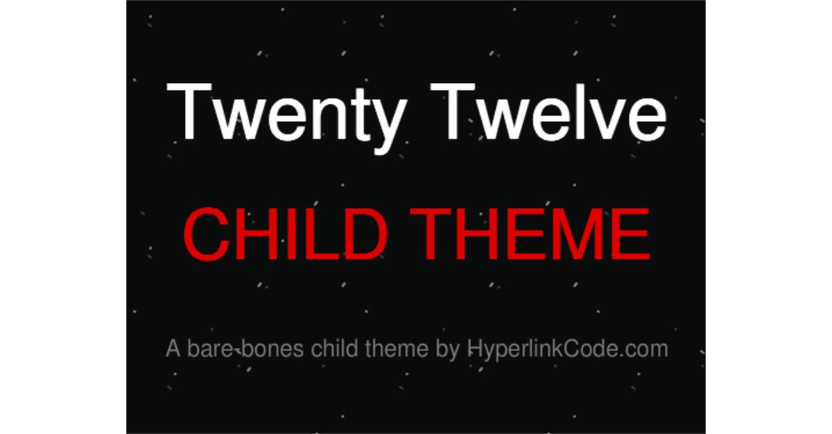 Twenty Twelve Child Theme OG Image