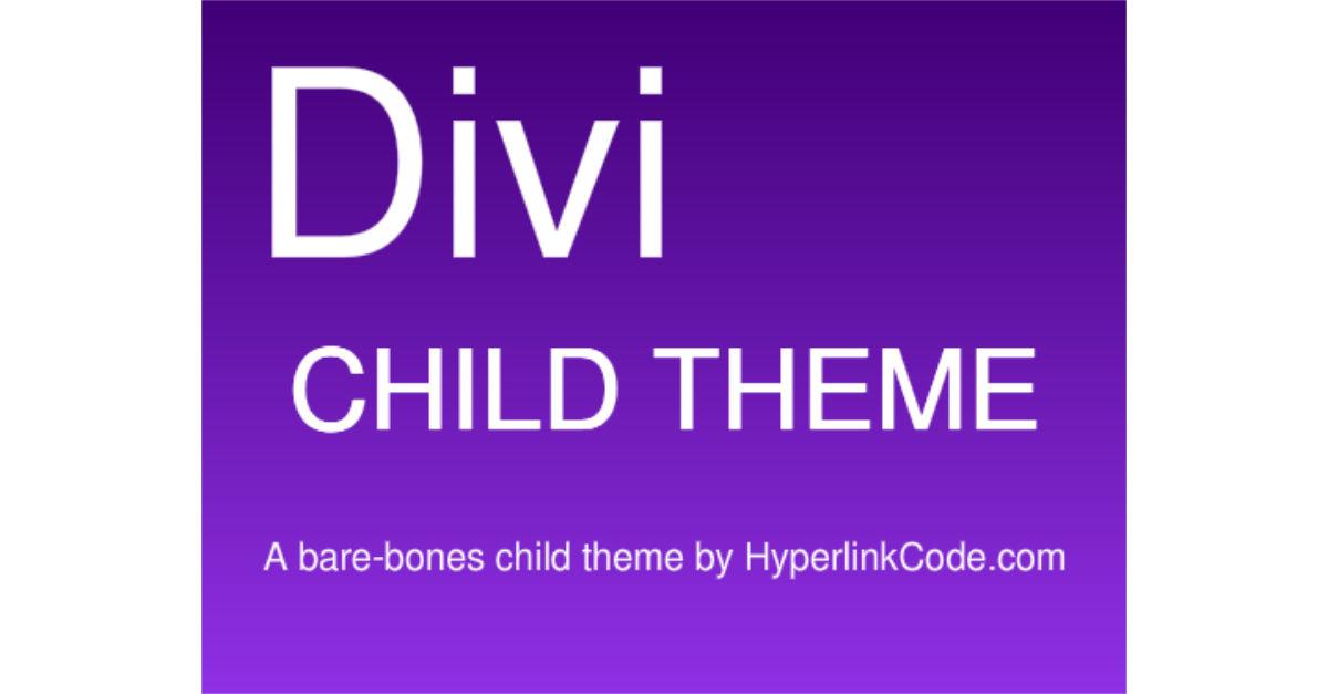 Divi Child Theme
