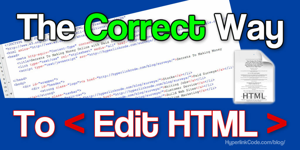 The Correct Way To Edit HTML Code Featured Image